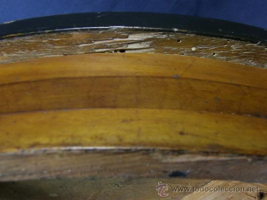 Antigüedades: REPISA ESTANTERÍA ESQUINERA MADERA NOGAL TEÑIDA NEGRO CHAPADO FINALES XVIII PPIOS XIX - Foto 13 - 39275183