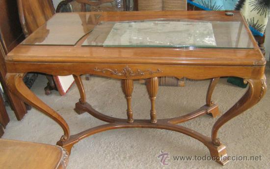 mesa de comedor en madera de nogal tallada unic - Kaufen Antike ...