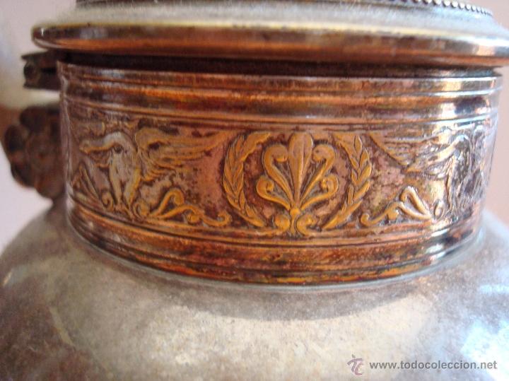 Antigüedades: ANTIGUO JUEGO DE TE EN METAL PLATEADO - Foto 9 - 39301324