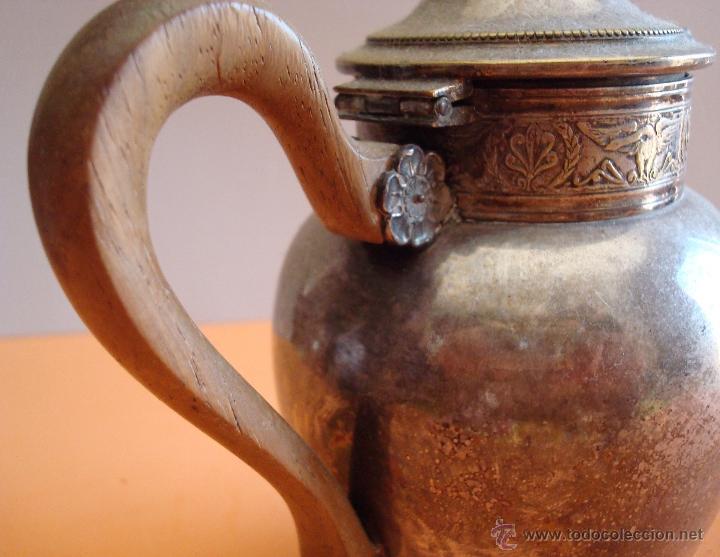 Antigüedades: ANTIGUO JUEGO DE TE EN METAL PLATEADO - Foto 10 - 39301324