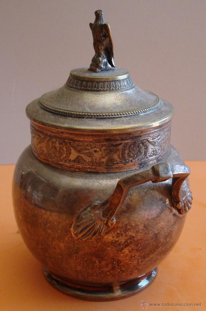 Antigüedades: ANTIGUO JUEGO DE TE EN METAL PLATEADO - Foto 15 - 39301324