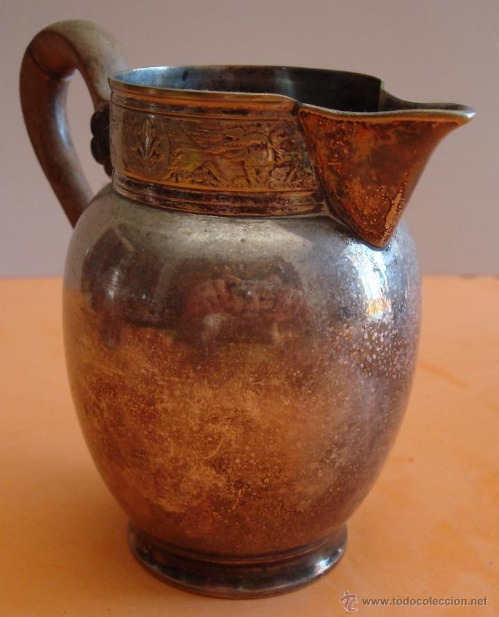 Antigüedades: ANTIGUO JUEGO DE TE EN METAL PLATEADO - Foto 16 - 39301324