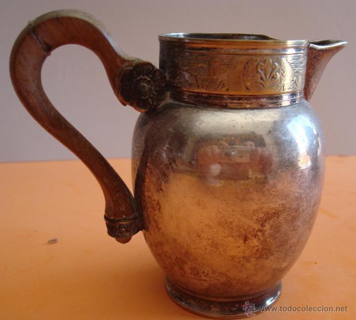Antigüedades: ANTIGUO JUEGO DE TE EN METAL PLATEADO - Foto 17 - 39301324