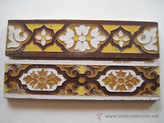 LOTE DE DOS CENEFAS DE CERAMICA. SEVILLA/TRIANA. AZULEJO. (Antigüedades - Porcelanas y Cerámicas - Triana)