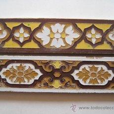 Antigüedades: LOTE DE DOS CENEFAS DE CERAMICA. SEVILLA/TRIANA. AZULEJO.. Lote 39301999