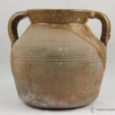 Antigüedades: TARRO CATALAN EN BARRO COCIDO VIDRIADO S XIX.. Lote 39305255