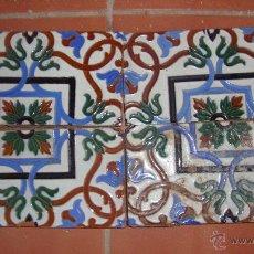 Antigüedades: DOS PAREJAS DE AZULEJOS RAMOS REJANO. Lote 53534796