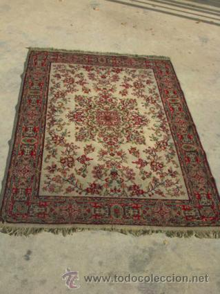 Antigüedades: Bonita y elegante alfombra para comedor o salón, en tonos rojos y crema, de conservación - Foto 2 - 39308686
