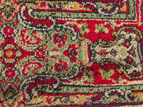 Antigüedades: Bonita y elegante alfombra para comedor o salón, en tonos rojos y crema, de conservación - Foto 5 - 39308686