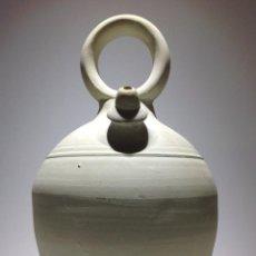 Antigüedades: ANTIGUO BOTIJO PARA AGUA DE ARCILLA BLANCA. Lote 39328927