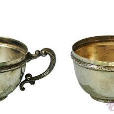 Antigüedades: PAREJA DE TACITAS (4,2X6,6 CM) 63 GRAMOS. SIGLO XIX.. Lote 39351032