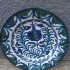 Antigüedades: VIEJO PLATO DE FAJALAUZA, PINTADO A MANO. Lote 208940200