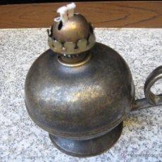 Antigüedades: QUINQUE O CANDIL ANTIGUO EN BRONCE.. Lote 39369452