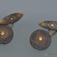 Antigüedades: ANTIGUO JUEGO DE GEMELOS. Lote 39366208