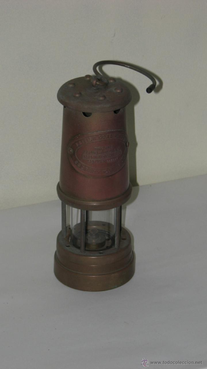 ANTIGUO FAROL MINERO (Antigüedades - Iluminación - Faroles Antiguos)