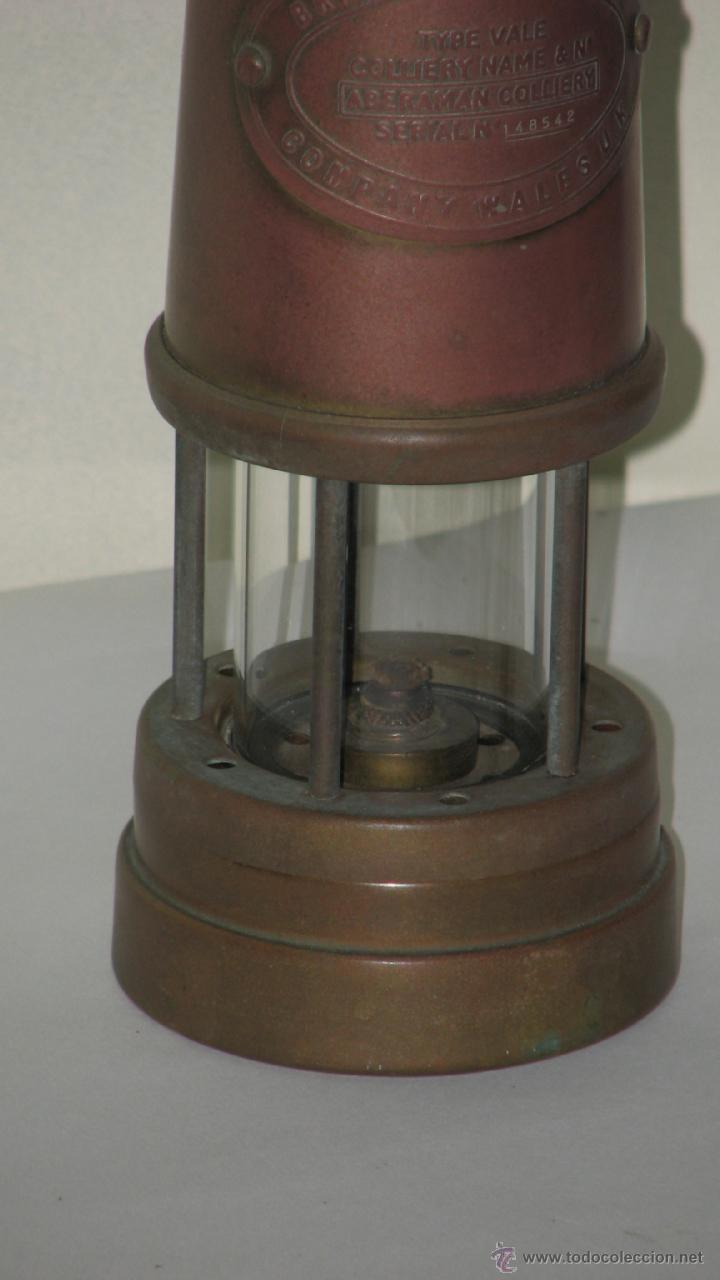 Antigüedades: ANTIGUO FAROL MINERO - Foto 2 - 39377503