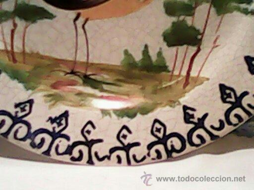 Antigüedades: ANTIGUO PLATO DE COLECION HECHO Y PINTADO A MANO ES DO ANO 1918, 1920 ESTA SELADO POR DETRAZ. - Foto 5 - 39391902