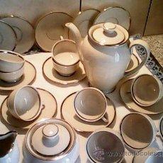 Antigüedades: PRECIOSO JUEGO DE CAFE EN PORCELANA COMPLETO DE 26 PIEZAS.MARCA GERMANY.. Lote 39393130