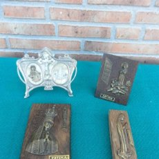 Antigüedades: 4 RELICARIOS RELIGIOSOS. Lote 39405469