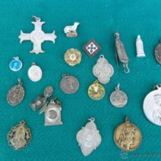 Antigüedades: 22 MEDALLAS RELIGIOSAS. Lote 39405601