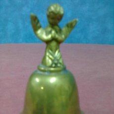 Antigüedades: CAMPANILLA FIGURA ANGEL BRONCE. Lote 39409994