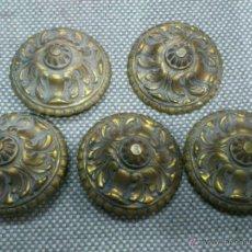 Antigüedades: . CLAVO DE PUERTA DE BRONCE.. LOTE DE 5 UNIDADES.. PP. SIGLO. Lote 39418486