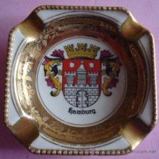 Antigüedades: ANTIGUO CENICERO DE PORCELANA BAVARIA ( ALEMANIA). Lote 39422957