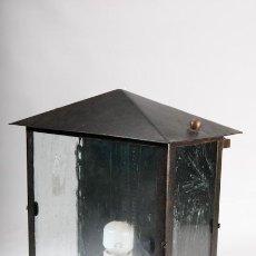 Antigüedades: APLIQUE DE PARED DE EXTERIOR DE HIERRO FORJADO. Lote 39427350
