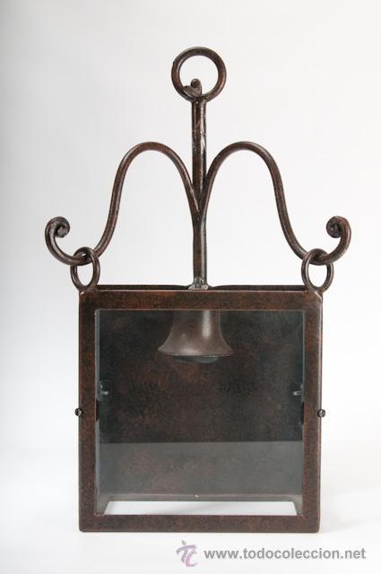 APLIQUE DE PARED DE HIERRO FORJADO (Antigüedades - Iluminación - Apliques Antiguos)