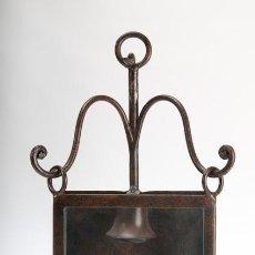 Antigüedades: APLIQUE DE PARED DE HIERRO FORJADO. Lote 39427355
