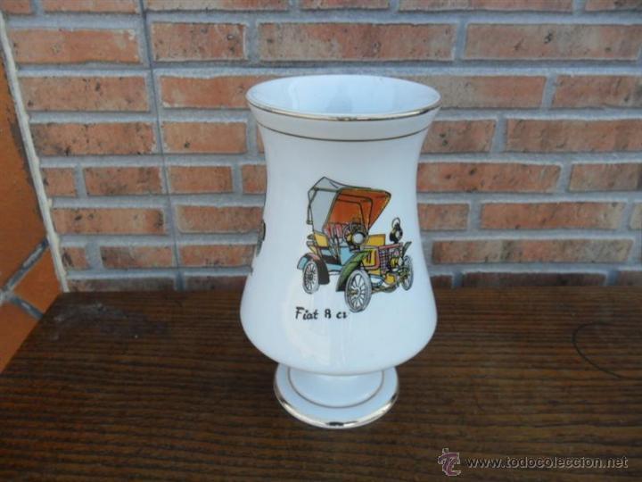 Antigüedades: copa grande con figuras de coches - Foto 2 - 39435594