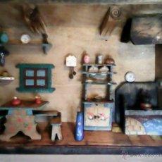Antigüedades: PRECIOSO Y ANTIGUO CUADRO TODO HECHO Y PINTADO A MANO DE LOS AÑOS40, 50. Lote 39440478