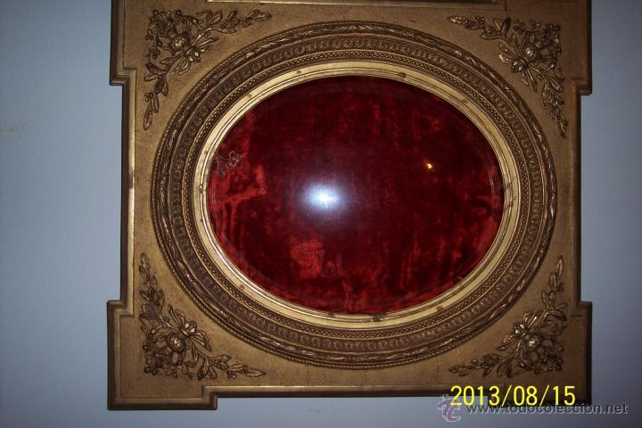 EXTRAORDINARIO MARCO CON CRISTAL OVALADO FINALES DEL XVIII (Antigüedades - Hogar y Decoración - Marcos Antiguos)