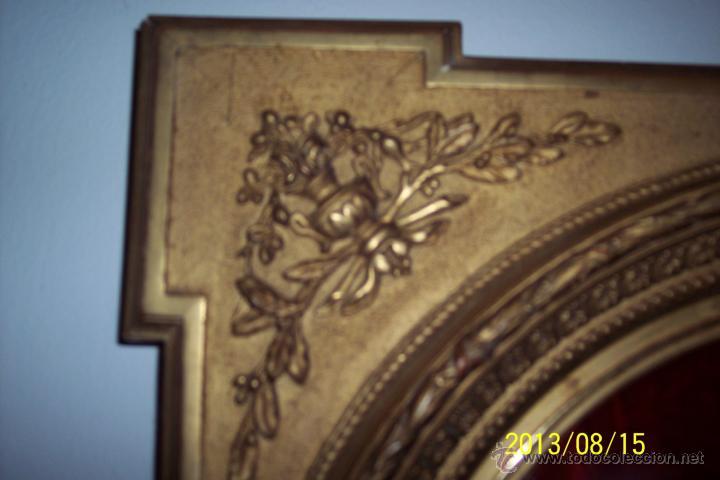 Antigüedades: EXTRAORDINARIO MARCO CON CRISTAL OVALADO FINALES DEL XVIII - Foto 3 - 39451856