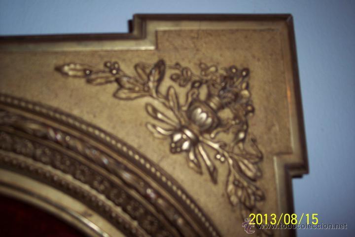 Antigüedades: EXTRAORDINARIO MARCO CON CRISTAL OVALADO FINALES DEL XVIII - Foto 4 - 39451856