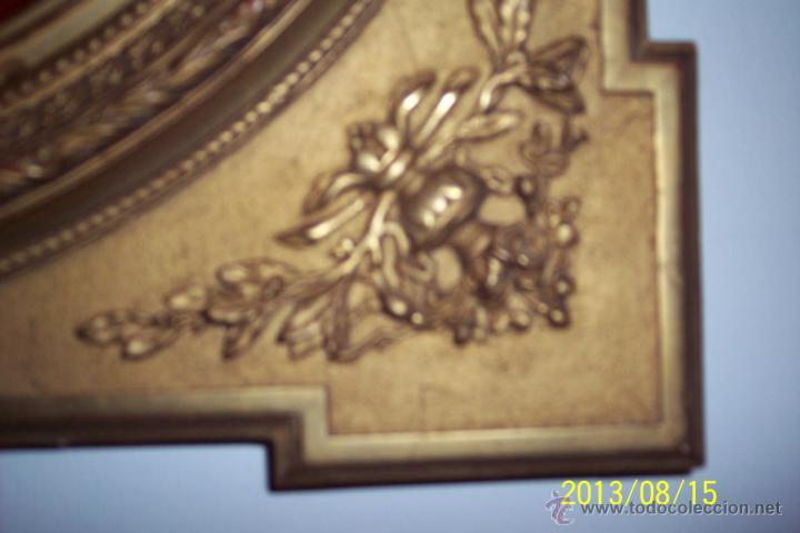 Antigüedades: EXTRAORDINARIO MARCO CON CRISTAL OVALADO FINALES DEL XVIII - Foto 5 - 39451856