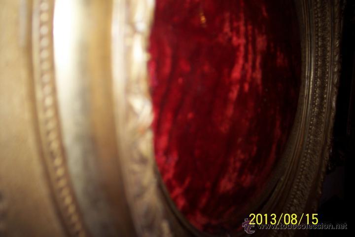 Antigüedades: EXTRAORDINARIO MARCO CON CRISTAL OVALADO FINALES DEL XVIII - Foto 7 - 39451856