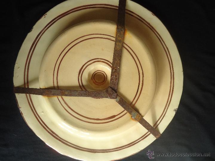 Antigüedades: ANTIGUO PLATO TETÓN DE REFLEJOS DE MANISES DIÁMETRO DE 28,5 cm - Foto 6 - 39325595