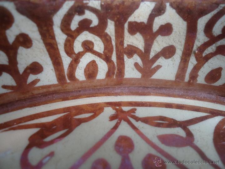 Antigüedades: ANTIGUO PLATO TETÓN DE REFLEJOS DE MANISES DIÁMETRO DE 28,5 cm - Foto 13 - 39325595