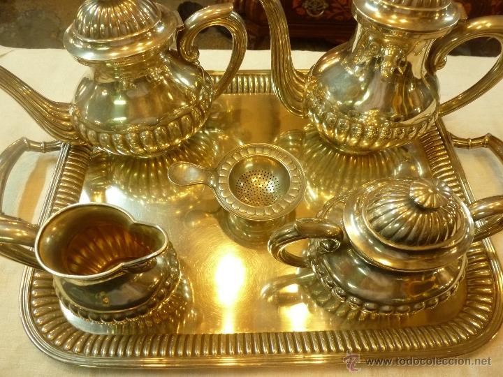 JUEGO DE CAFE DE PLATA (Antigüedades - Platería - Plata de Ley Antigua)