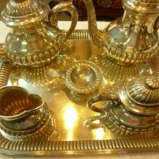 Antigüedades: JUEGO DE CAFE DE PLATA. Lote 39476281