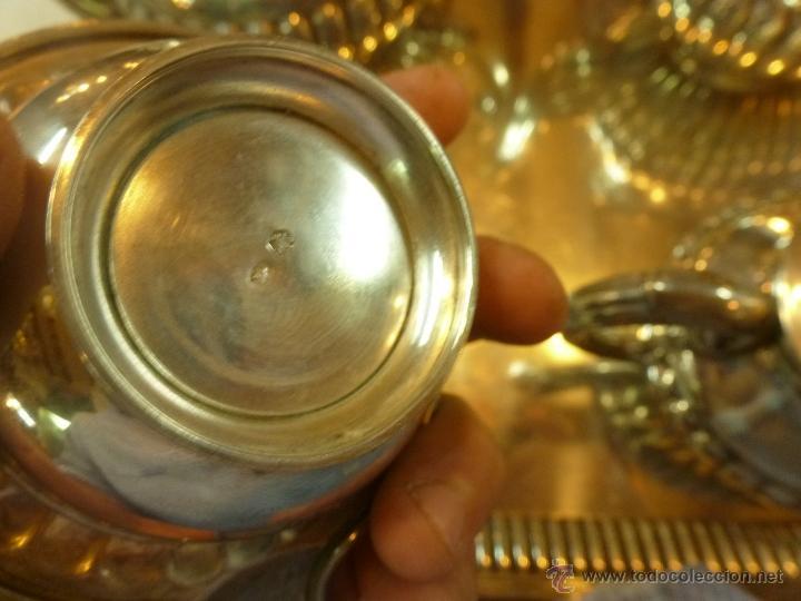 Antigüedades: juego de cafe de plata - Foto 15 - 39476281