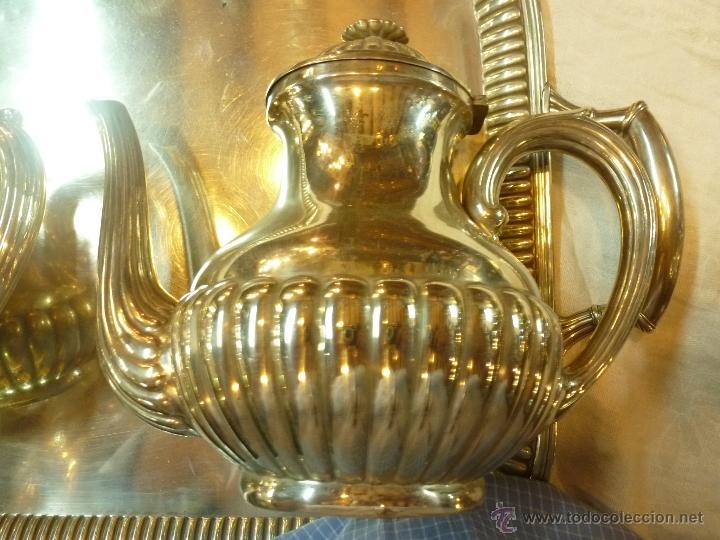 Antigüedades: juego de cafe de plata - Foto 8 - 39476281