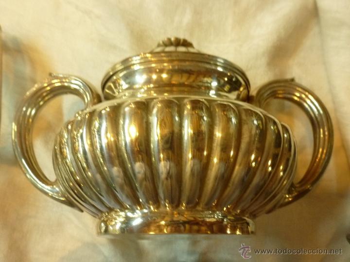 Antigüedades: juego de cafe de plata - Foto 6 - 39476281