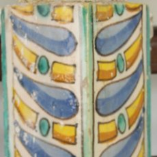 Antigüedades: 55- FRAGMENTO DE ESQUINERA EN CERAMICA POLICROMADA S. XVIII. . Lote 39484860