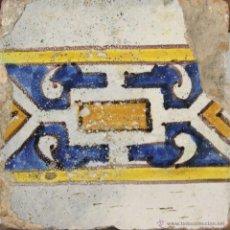 Antigüedades: 61- AZULEJO EN CERAMICA POLICROMADA S. XVII-SVIII.. Lote 39486124