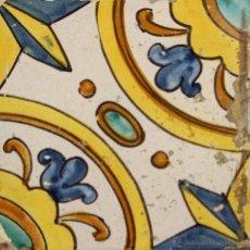 Antigüedades: 62- AZULEJO EN CERAMICA POLICROMADA S. XVII- XVIII.. Lote 39486236