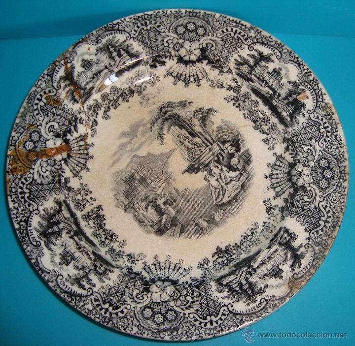 PLATO PICKMAN Y CIA. 18.5CM. (Antigüedades - Porcelanas y Cerámicas - La Cartuja Pickman)
