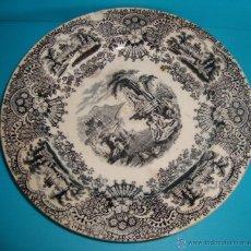 Antigüedades: PLATO PICKMAN Y CIA LA CARTUJA DE SEVILLA, 18.5CM.. Lote 39497215