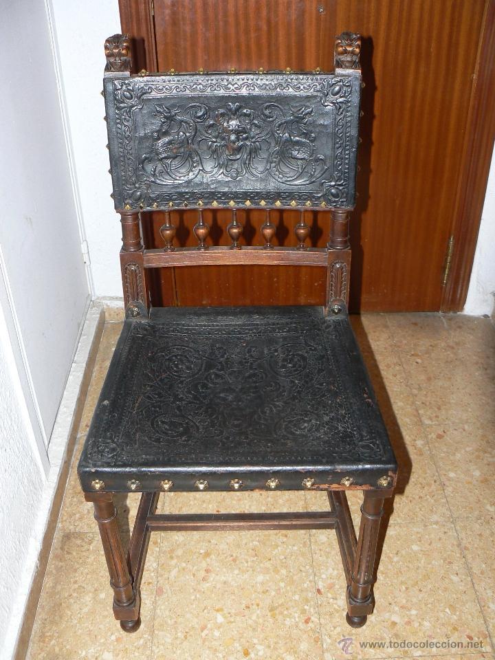 silla estilo renacentista.tallada con remates y - Comprar Sillas ...